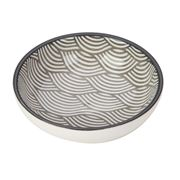 Gusta - Grey Dish Waves 9cm