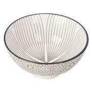 Gusta - Grey Round Bowl Wire Flower & Mosaic 10cm