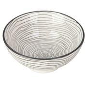 Gusta - Grey Round Bowl Swirl & Swirl 12cm