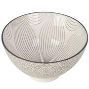 Gusta - Grey Round Bowl Wire Flower & Mosaic 13.5cm