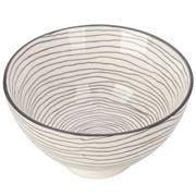 Gusta - Grey Round Bowl Swirl & Swirl 13.5cm