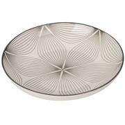 Gusta - Grey Round Plate Wire Flower 21.5cm