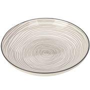 Gusta - Grey Round Plate Swirl 21.5cm
