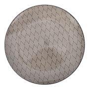 Gusta - Grey Round Plate Waves 26.5cm