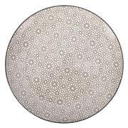 Gusta - Grey Round Plate Mosaic 26.5cm