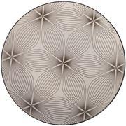Gusta - Grey Round Plate Wire Flower 26.5cm