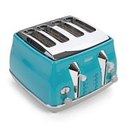 DeLonghi - Icona Capitals Four Slice Toaster CTOC4003 Azure