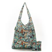 Eco-Chic - Foldaway Shopper Dogs Teal