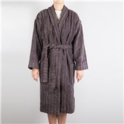 Cord Robes - Cord Stripe Robe Charcoal