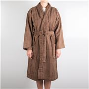 Cord Robes - Cord Stripe Robe Driftwood