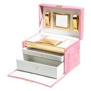 Luxe By Peter's - Velvet Jewellery Box Pink 24x16x15cm