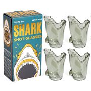 Luxe By Peter's - Shark Shot Glasses Set 4pce