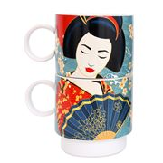 Luxe By Peter's - Geisha Stacking Mug Blue 400ml