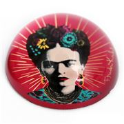 Luxe By Peter's - Frida Kahlo Red Paperweight 7.8x.4x7.8cm