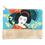 Luxe By Peter's - Geisha Cosmetic Bag Blue