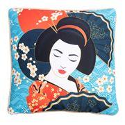 Luxe By Peter's -  Geisha Cushion Blue 39x39cm