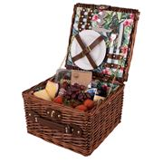 Avanti - 2 Person Wicker Picnic Basket Tropical Hibiscus