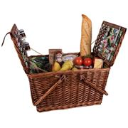 Avanti - 4 Person Picnic Basket Tropical Hibiscus w/Handles