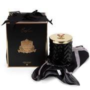 Cote Noire - Ltd Ed. Black Herringbone Candle/Scarf Set 2pce