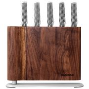 Global - Uku Knife Block Set Walnut 6pce