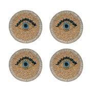 Joanna Buchanan - Evil Eye Coaster Set  4pce