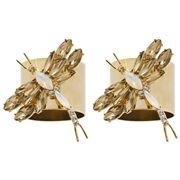 Joanna Buchanan - Dragonfly Napkin Ring Set Taupe 2pce