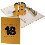 Colorpop - Celebrating 18th Birthday Greeting Card