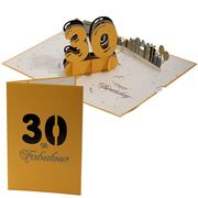 Colorpop - 30th Birthday 3D Pop Up Card