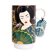 Luxe By Peter's - Geisha Stacking Mug Green 400ml