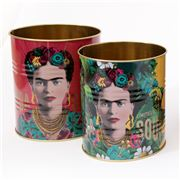 Luxe By Peter's -  Frida Kahlo Storage Tin Set Red 2pce