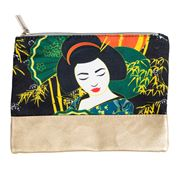 Luxe By Peter's - Geisha Cosmetic Bag Green