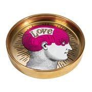 Luxe By Peter's - Phrenology Round Dish Dark Pink 13cm