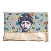 Luxe By Peter's - Mademoiselle Toiletry Bag Grey 22x36cm