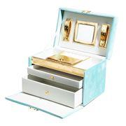 Luxe By Peter's - Velvet Jewellery Box Blue 24x16x15cm