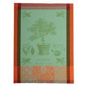 Garnier-Thiebaut -  Cacaoyer En Pot Vert Tea Towel 56x77cm
