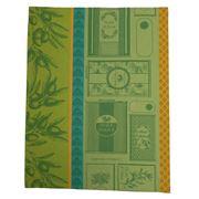Garnier-Thiebaut - Huile D Olives Vert Tea Towel 56x77cm