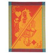 Garnier-Thiebaut -  Carte Reine Festival Tea Towel 56x77cm