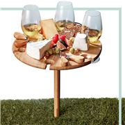 S & P - Picnic Wine Tray w/Cheese Knives 33.5cm