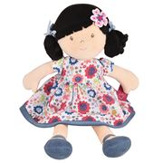 Bonikka - Lilac Flower Kid Doll With Black Hair