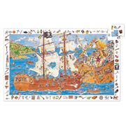 Djeco -  Observation Puzzle Pirates & Poster 100pce