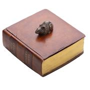 The Original Book Works - Mouse Box Bronze & Brown