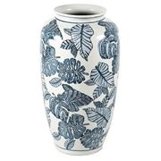Florabelle - Monstera Vase Large Blue and White