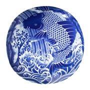 Concept Japan - Koi Carp Plate Blue 25x3.7x25cm