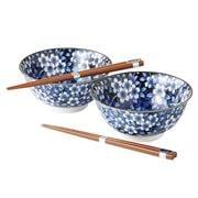 Concept Japan - Damizakura Bowl Set W/Chopsticks 4pce