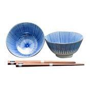 Concept Japan -  Yaguruma Togusa Bowl/Chopsticks 15.5cm 4pce