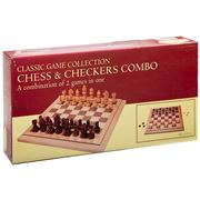 Games -  Wooden Chess & Checkers Combo