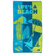Rans - Premium Jacquard Beach Towel Life's A Beach