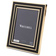 Whitehill - Empire Beaded Black& Gold Toned Frame 13x18cm