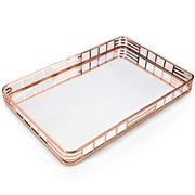 Whitehill - Rose Gold Toned Mirrored Rectangular Tray