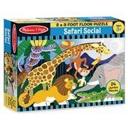 Melissa & Doug - Safari Social Floor Puzzle 24pce